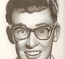 Buddy Holly drawing by RobCrandall