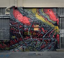 SOMA graffiti  by Derek Williams