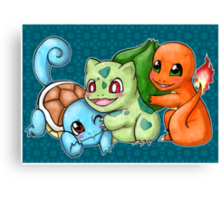 Pokemon Starters Canvas Print