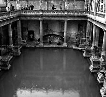 The Roman Baths In The City Of Bath England by Ian Mooney