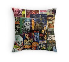 Monster Movies Throw Pillow
