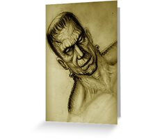 frankensein Greeting Card