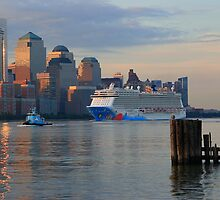 The Cruise Ship Norwegian Breakaway by pmarella