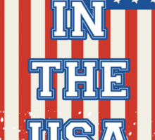 Born In The USA Flag Sticker