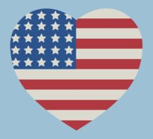America Flag Heart 4th Of July by CarbonClothing