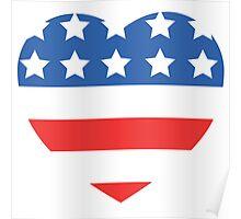 USA Heart Flag Poster