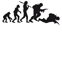 Evolution monkey war dead was stupid Warrior by Style-O-Mat