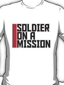 Cool Soldier on a Mission logo Design T-Shirt