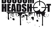 Boom Headshot Sniper Killer Blood Logo by Style-O-Mat