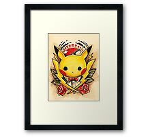 Pikachu Flash  Framed Print
