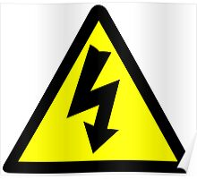 Electrical Warning Symbol Poster