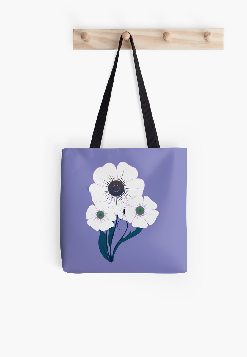 Pillow or Tote In Pretty Floral Design by Vickie Emms