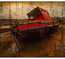 Lonely boat by Francisco Martin Falcon