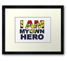 My Own Hero Captain Marvel Framed Print
