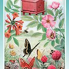 Vintage Red Beehive Greeting Card by historicnature