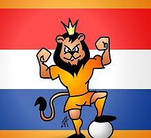 Orange lion soccer hero by cardvibes
