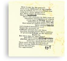 Thompsons Typewriter Canvas Print