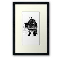 Guts' Verse - Berserk Framed Print