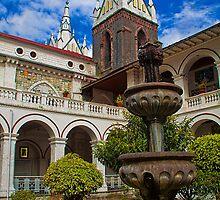 Ecuador. Baños. Cathedral. Cloister. Fountain. by vadim19