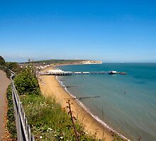 Sandown Bay with Pier. by ronsaunders47
