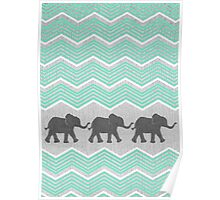 Three Elephants Poster