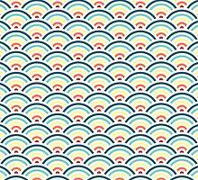 Rainbowaves Pattern (light) by freshinkstain