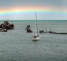 Tangalooma Wrecks - Moreton Island Qld Australia by Beth  Wode