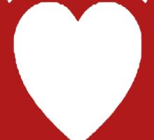 Clandestine Bat Heart - Red Sticker