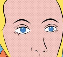 Soren Kierkegaard (Ben Day Dots / Lichtenstein Pop Art Style) Sticker