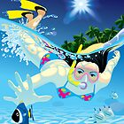 Diving girl by maystra