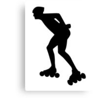 Inline skating skater Canvas Print