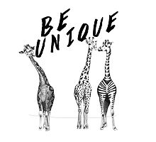 Be Unique, Giraffes by dejaliyah