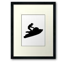 Jet ski racing Framed Print