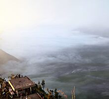 Sunrise Overlooking Mount Bromo.  East Java.  Indonesia. by KeithThomson