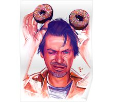 Steve Buscemi and donuts digital painting Poster