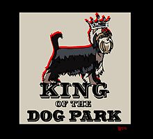 Yorkshire Terrier King of the Dog Park by BarkleyandCo