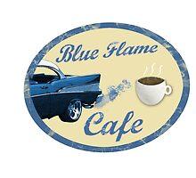Blue Flame Cafe by RockSky-Comics