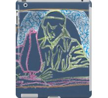 sculpture of the man at a sewing machine (navy) iPad Case/Skin