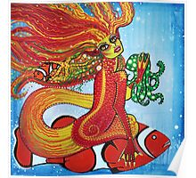 Clownfish Mermaid Poster