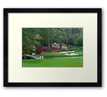 Amen Corner Golf Golfers on Bridge Augusta  Framed Print