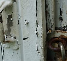 DOUBLE LOCKS ON WEATHERED BARN by pjm286