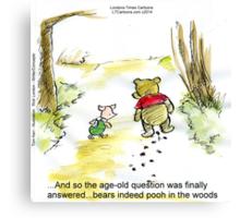 Where Do Bears Really Go?  Canvas Print