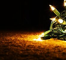 Shiny Christmas Lights on the Floor by Alemay