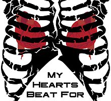 My Hearts Beat For You - Black by GeekGoth