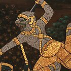 Ramayana Fresco - Grand Palace Bangkok by indiafrank
