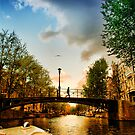 Amsterdam at sunset by andreisky