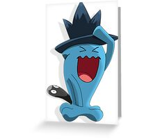 Wobbuffet with Murkrow hat Crossver Greeting Card