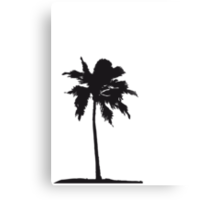 Palm tree on the beach sun sea Metal Print