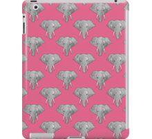 Elephant Pattern on Pink iPad Case/Skin