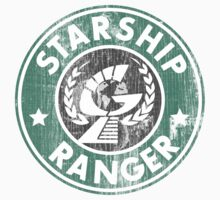 Starship Ranger: Washed starbucks style Kids Clothes